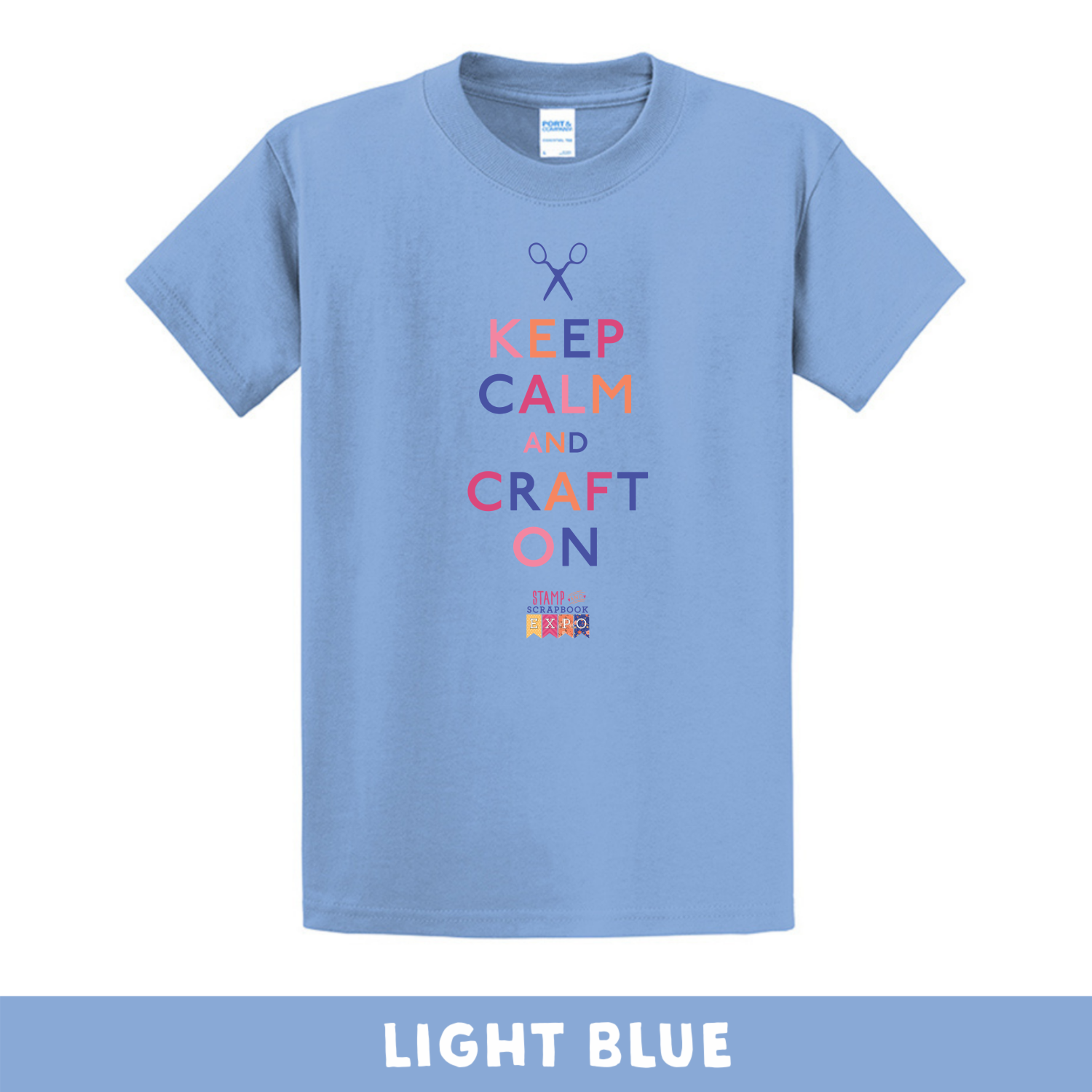 Light Blue - Crew Neck Unisex T-Shirt - Keep Calm & Craft On