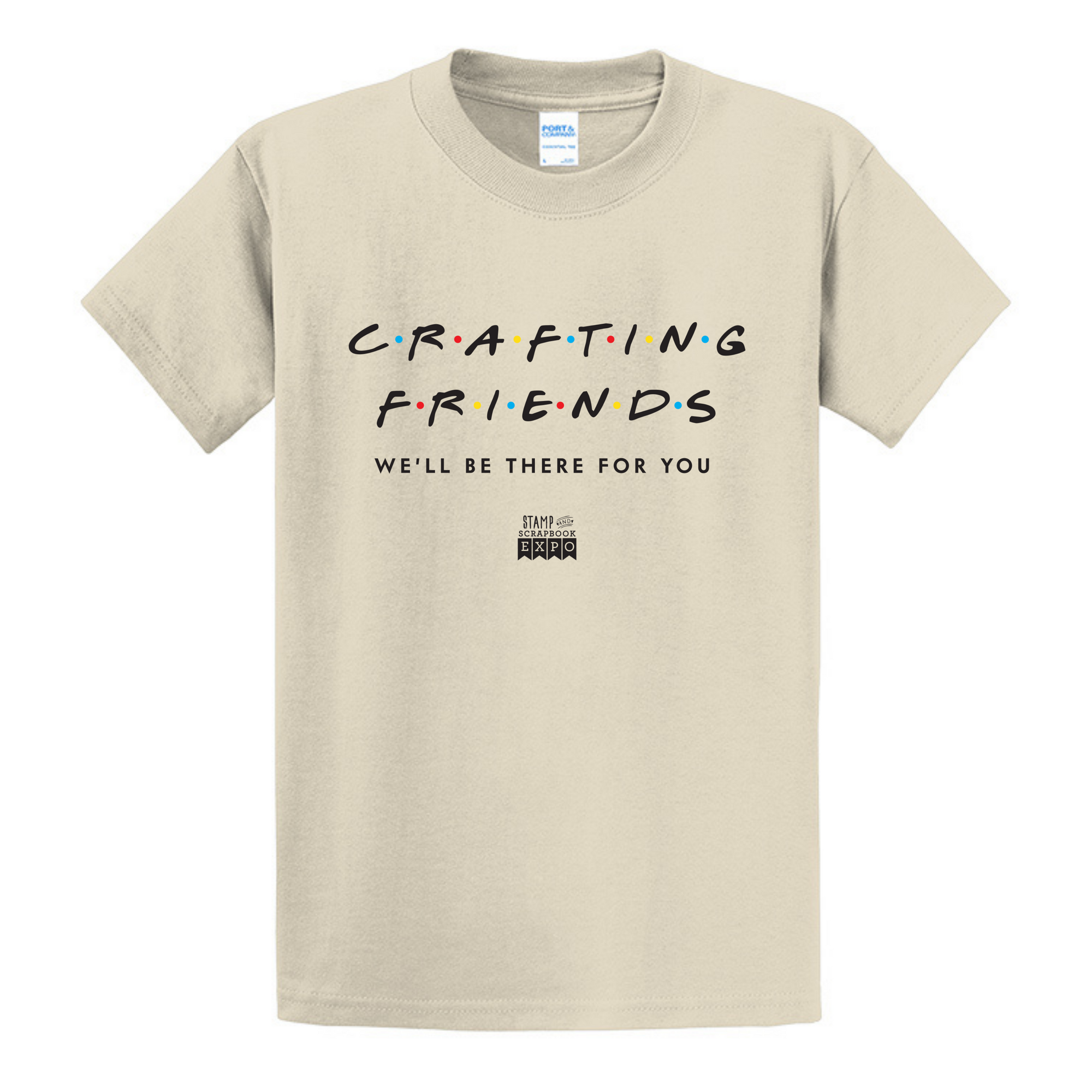 Natural - Crew Neck Unisex T-Shirt - Crafting Friends