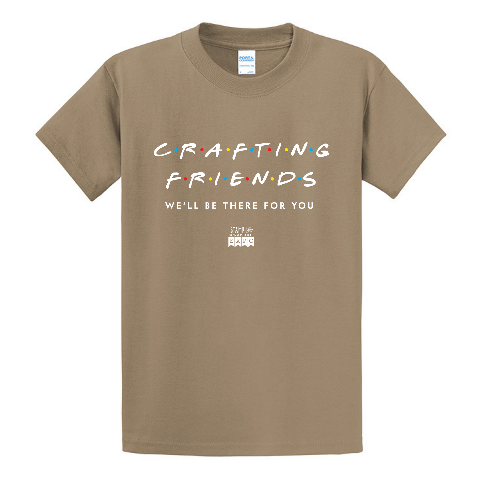 Sand - Crew Neck Unisex T-Shirt - Crafting Friends