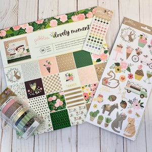 Card Swap - 30 Cards - Pebbles - Lovely Moments - For Scrapbooking