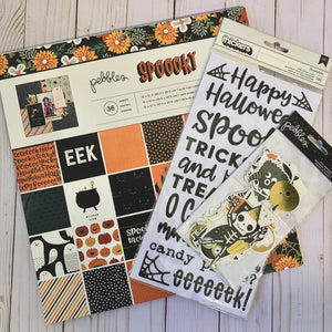 Card Swap- 30 Cards - Pebbles - Spooky Kit - For Scrapbooking