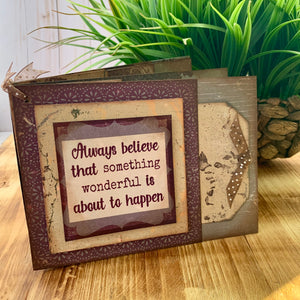 Quick Quotes Happiness Scrapbook Layout & Mini Book Project Kit 1.3
