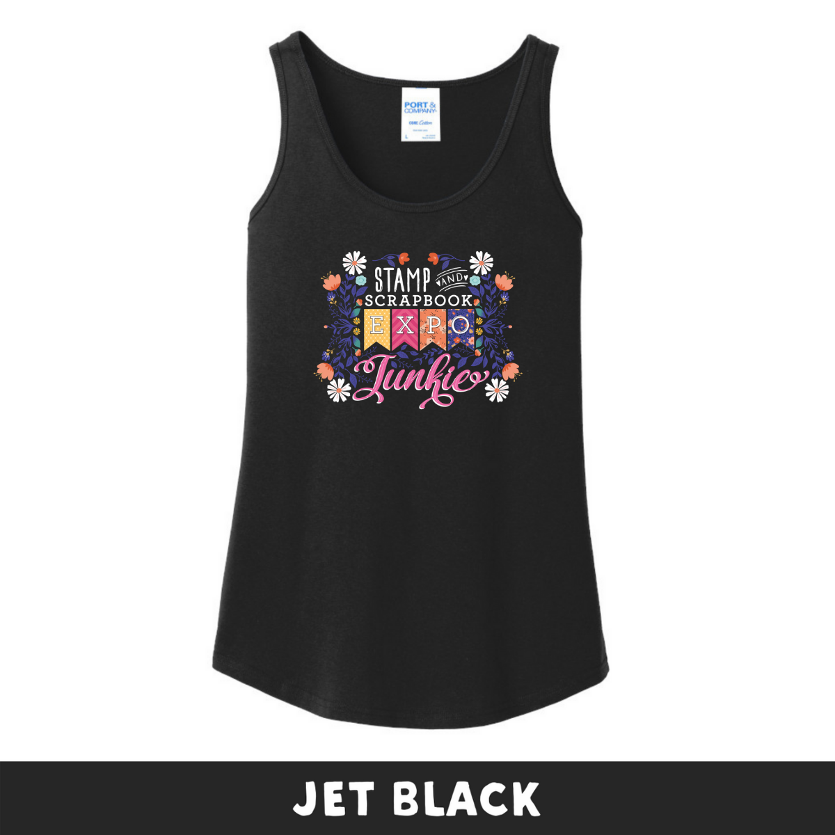 Jet Black -  Woman's Cut Tank - SSBE Junkie With/Flowers