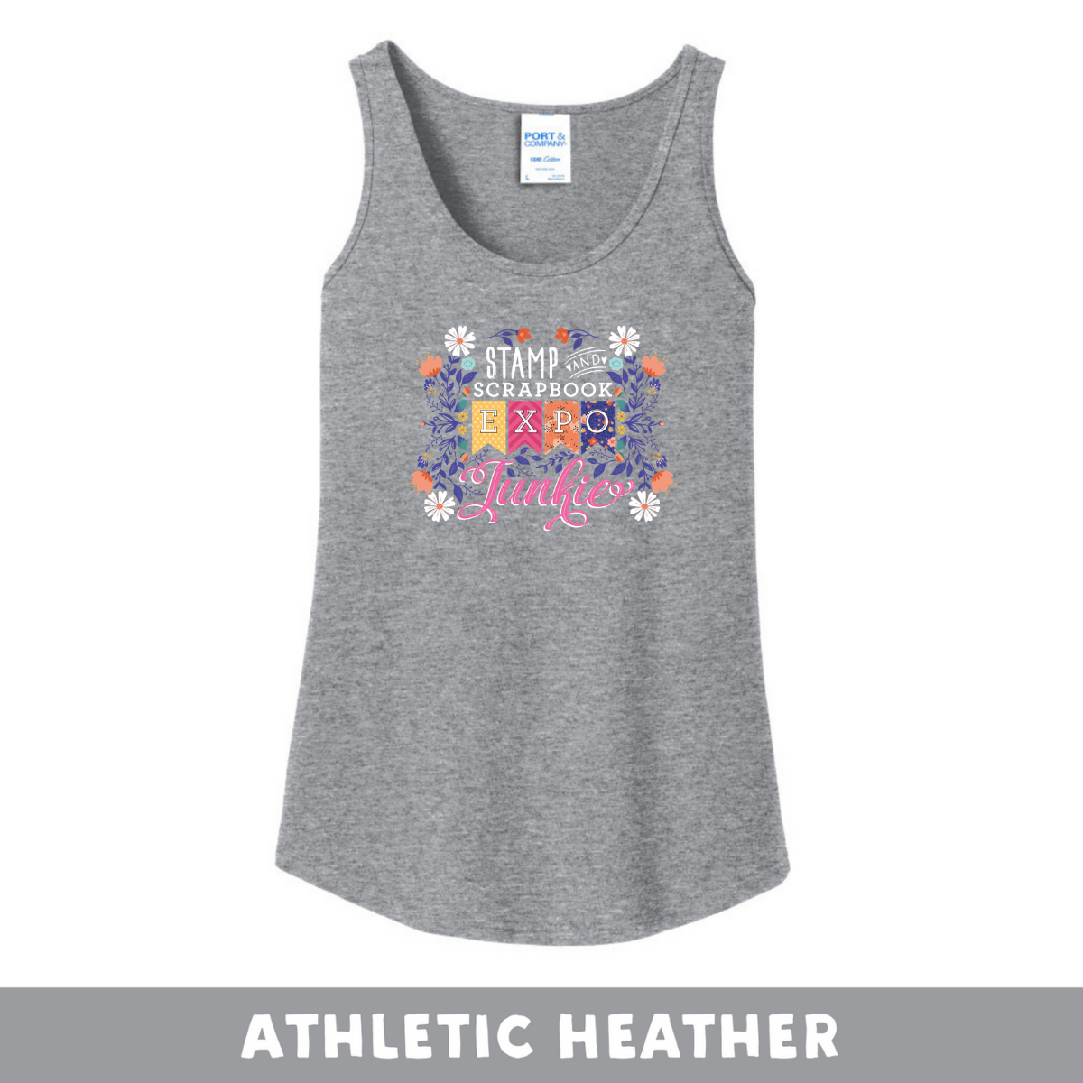 Athletic Heather -  Woman's Cut Tank - SSBE Junkie With/Flowers