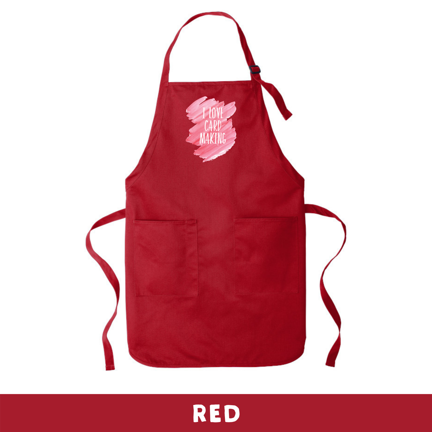 Red - Apron - I Love Cardmaking