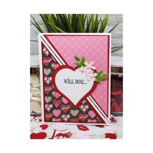 Riley & Co. Be Mine Double Pop Up Card & Stamp Set Project Kit