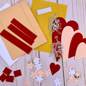 Tessler Crafts Love Step Up Card Valentine's Project Kit