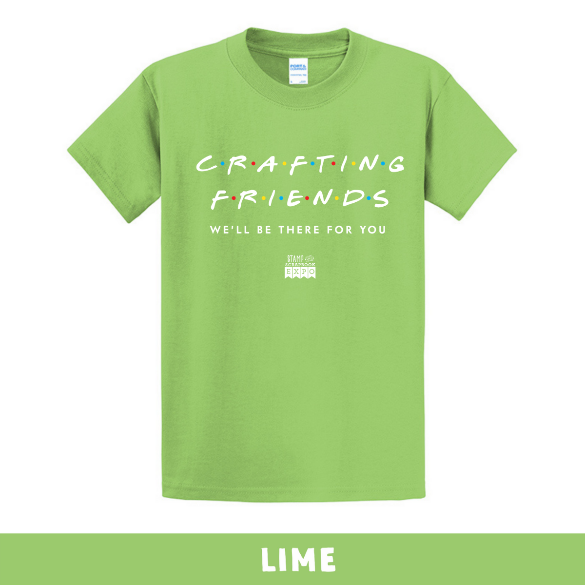 Lime - Crew Neck Unisex T-Shirt - Crafting Friends
