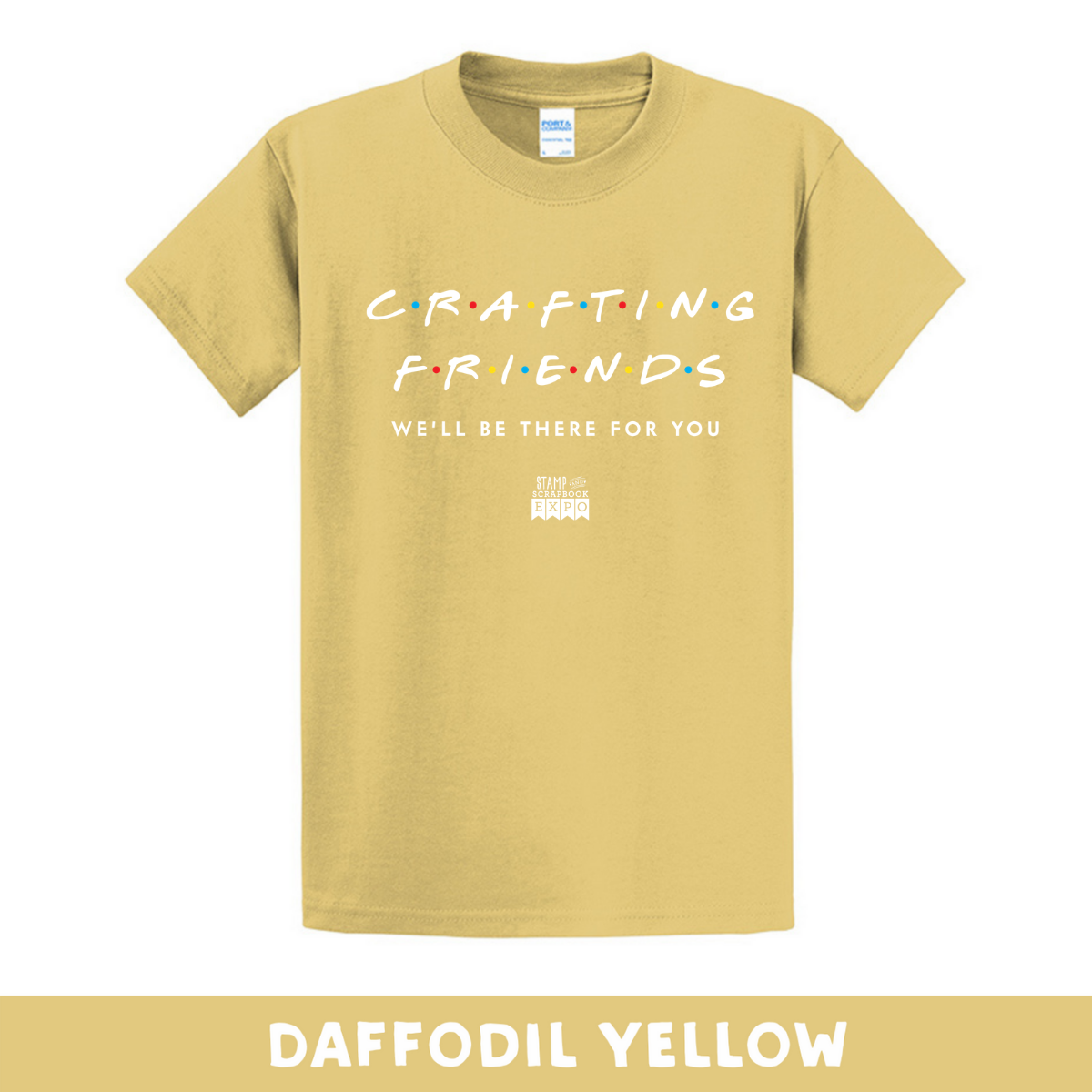Daffodil Yellow - Crew Neck Unisex T-Shirt - Crafting Friends