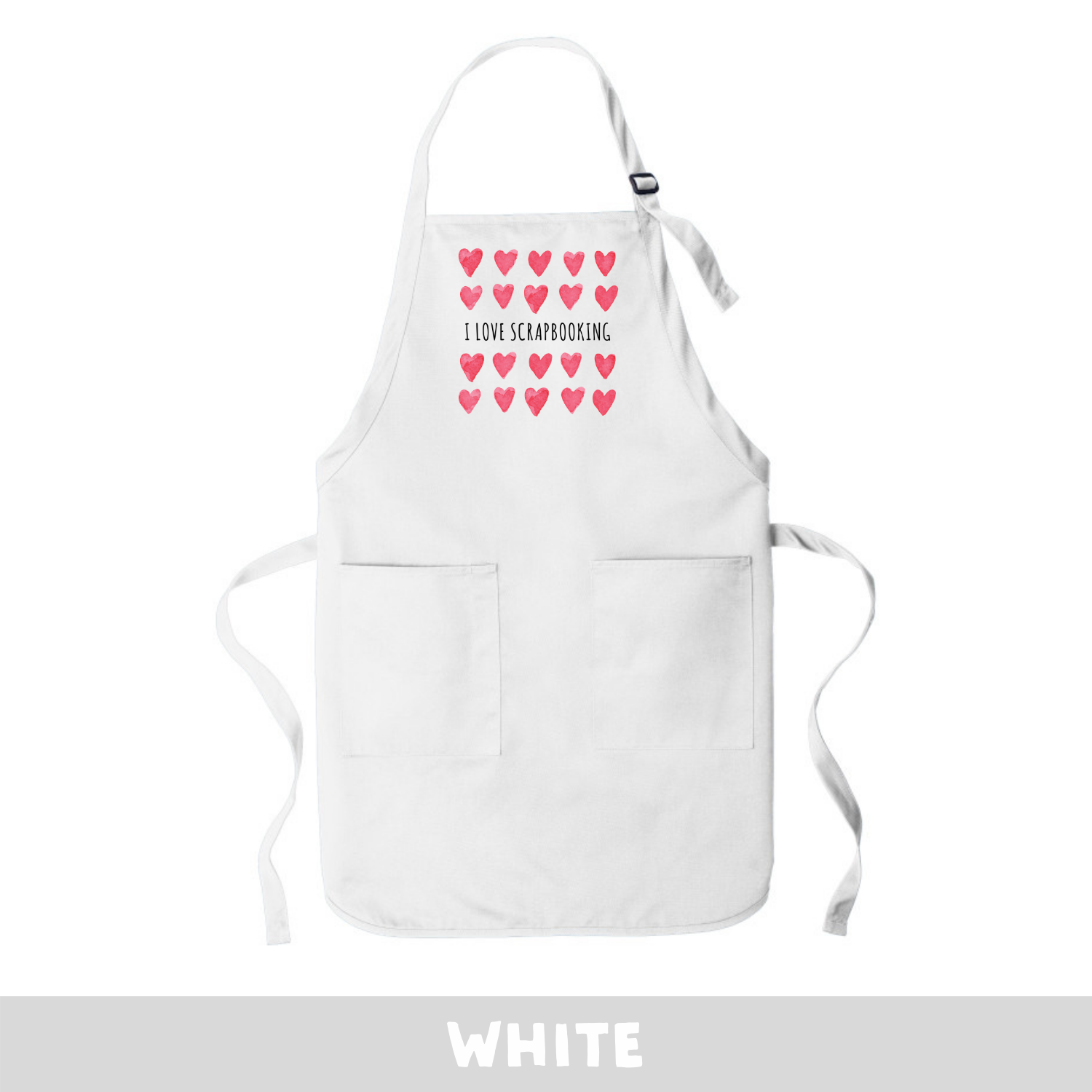 White - Apron - I Love Scrapbooking