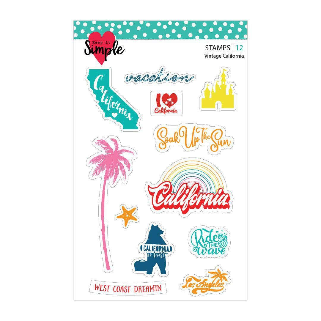 Vintage California: 4x6 Stamp Set