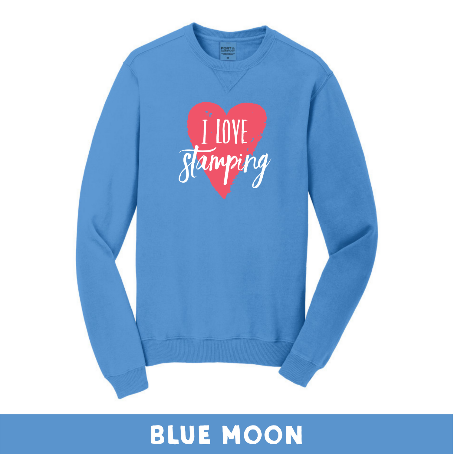 Blue Moon - Beach Wash Unisex Sweatshirt - I Love Stamping