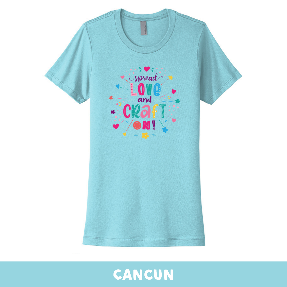 Cancun - Crew Neck Boyfriend Tee - Spread Love and Craft On
