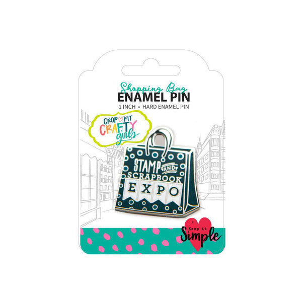 Crafty Girls Enamel Pins – Shopping Bag