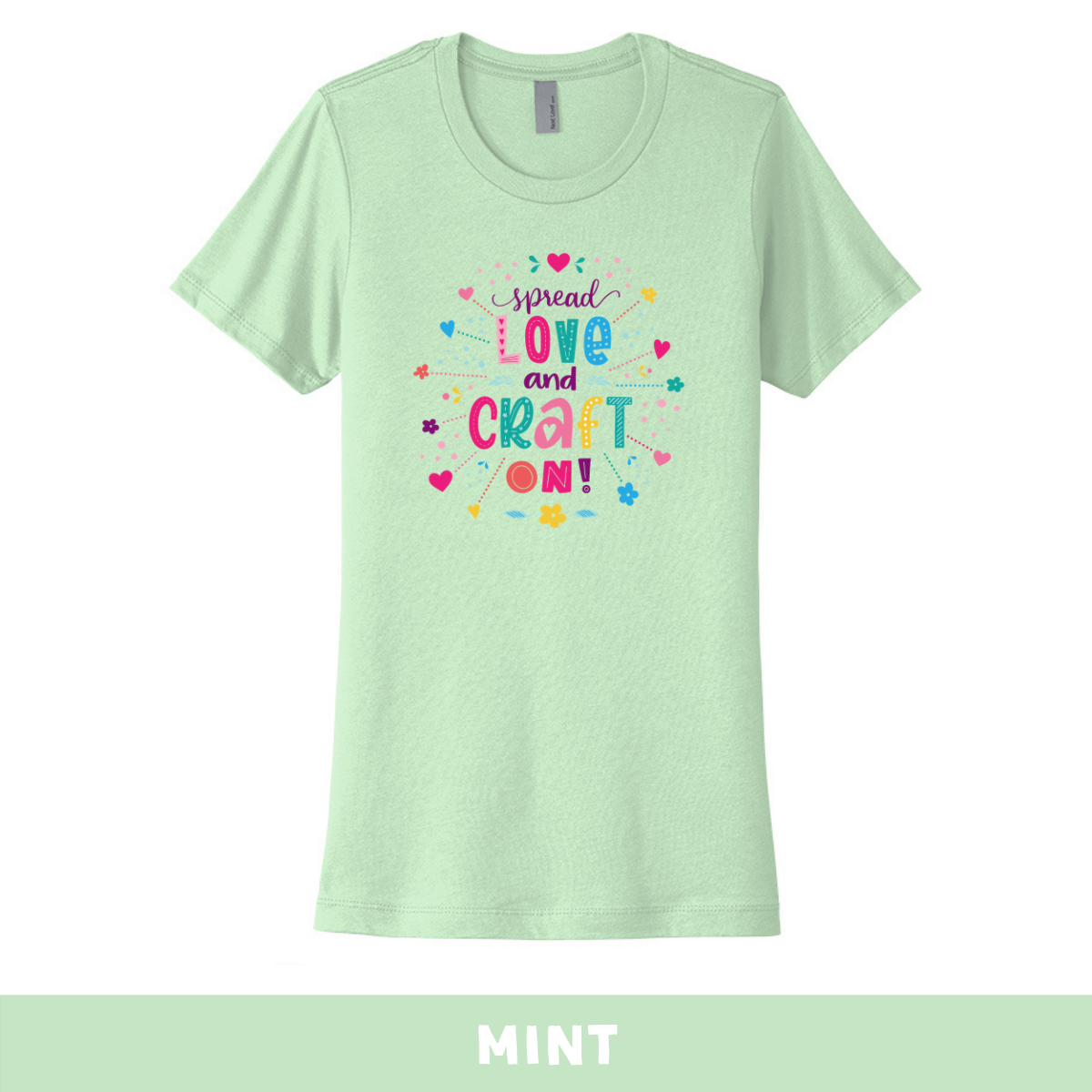 Mint - Crew Neck Boyfriend Tee - Spread Love and Craft On