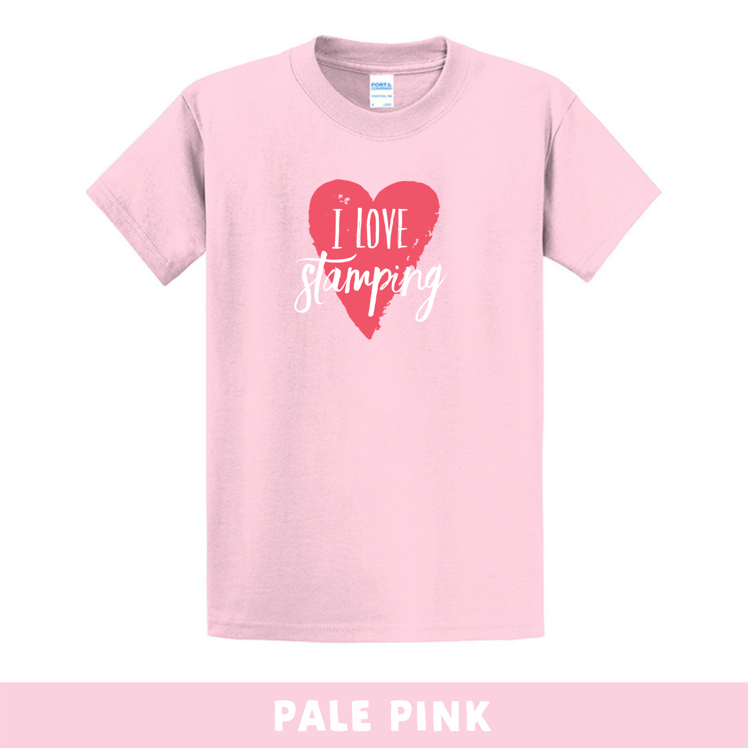 Pale Pink - Crew Neck Unisex T-Shirt - I Love Stamping