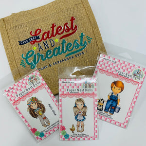 Slimline Card Swap - 20 Slimline Cards - Paper Nest Dolls Kit
