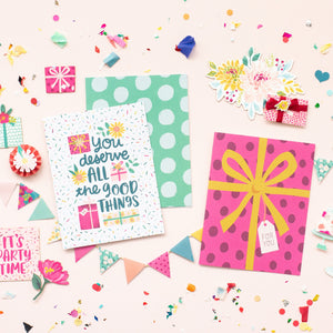 Card Swap - 30 Cards - Pink Paislee - And Many More Kit - For Card Makers