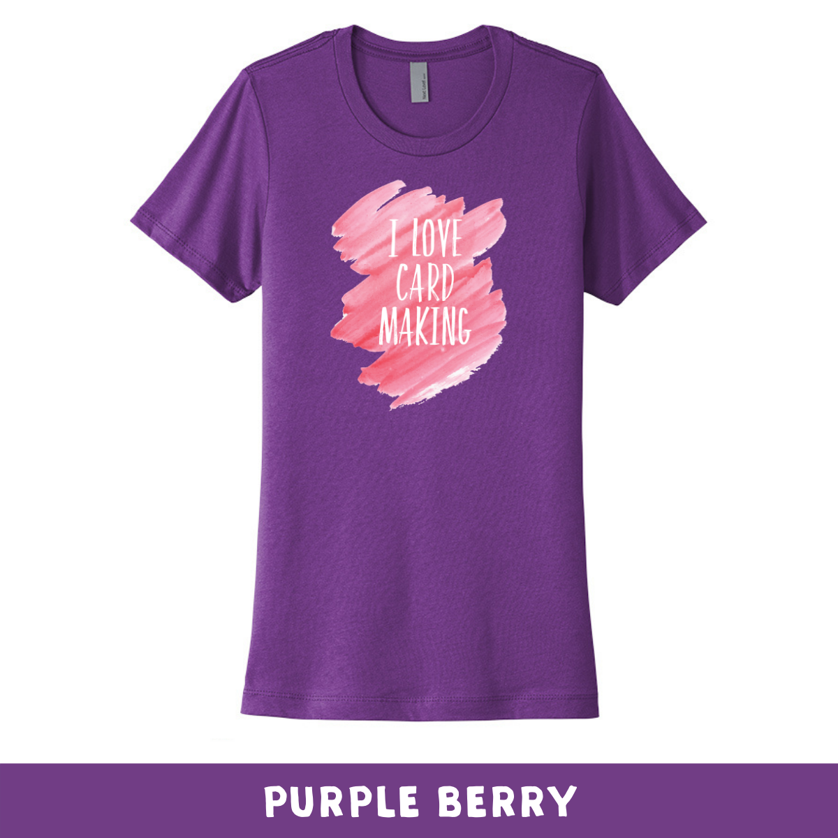 Purple Berry - Crew Neck Boyfriend Tee - I Love Cardmaking