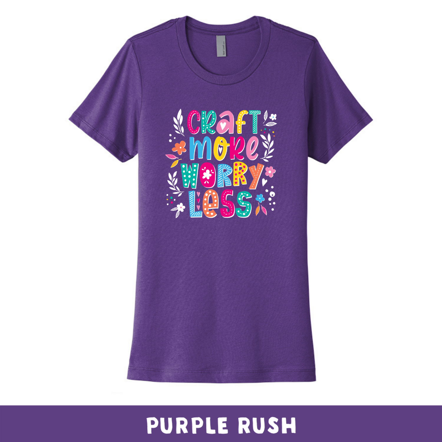 Purple Rush - Crew Neck Boyfriend Tee - Craft More Worry Less
