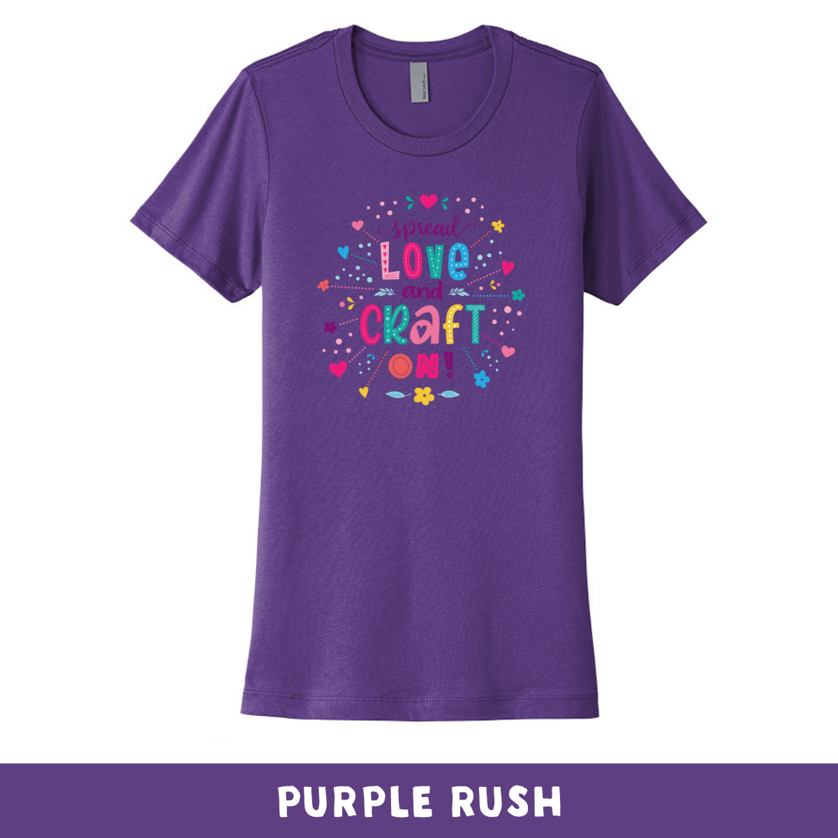 Purple Rush - Crew Neck Boyfriend Tee - Spread Love and Craft On