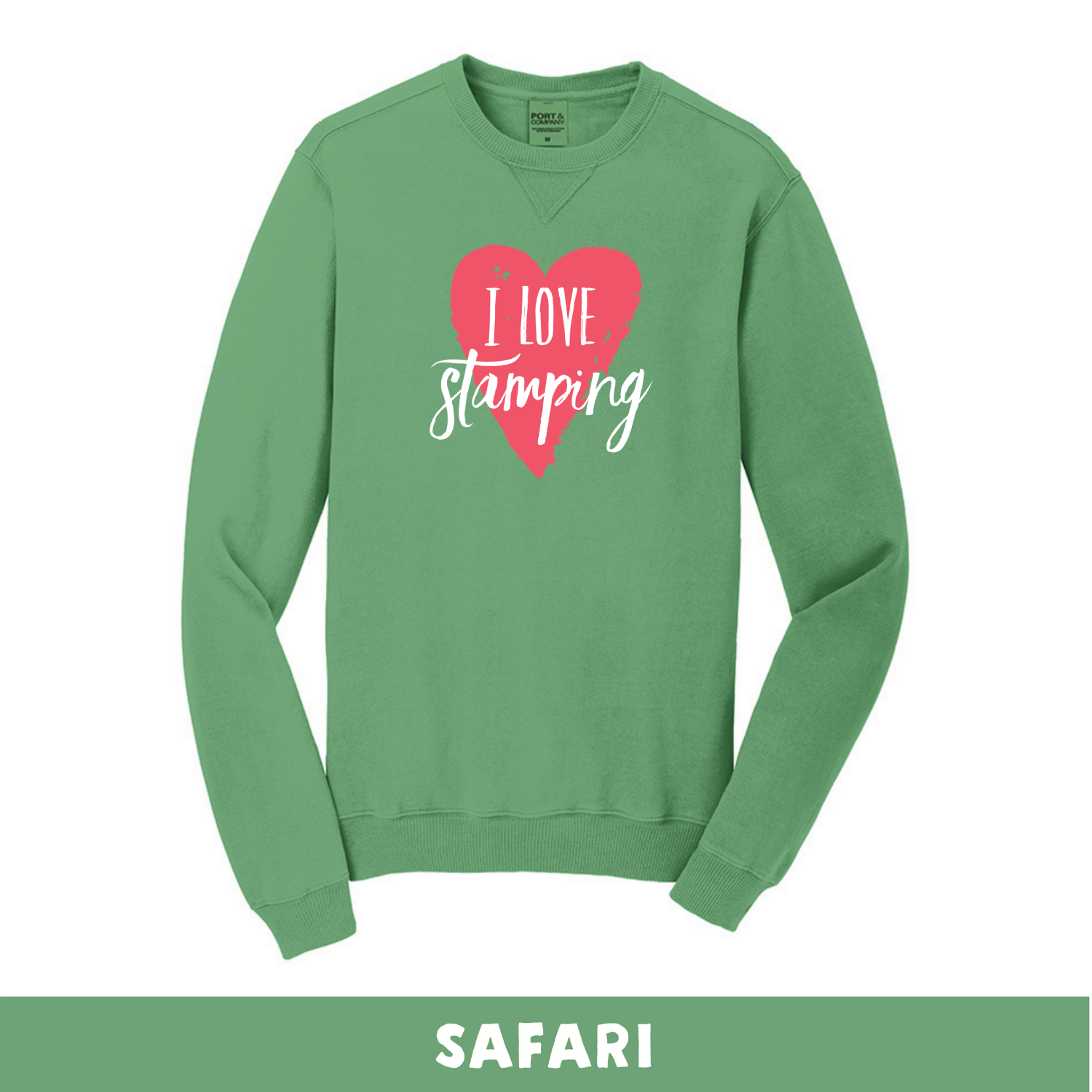 Safari - Beach Wash Unisex Sweatshirt - I Love Stamping