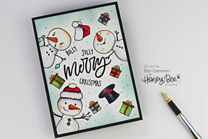 12x12 Layout Swap - Honey Bee Stamps - Snow Buddies Kit