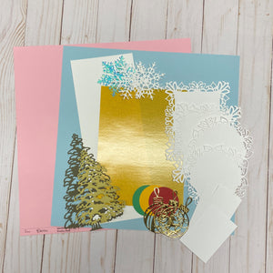 Tessler Crafts Christmas Scrapbook Layout Project Kit