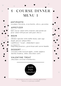 Valentine's 4-course Dinner Menu 1 (serves 2)