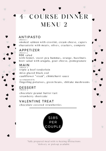 Valentine's 4-course Dinner Menu 2 (serves 2)