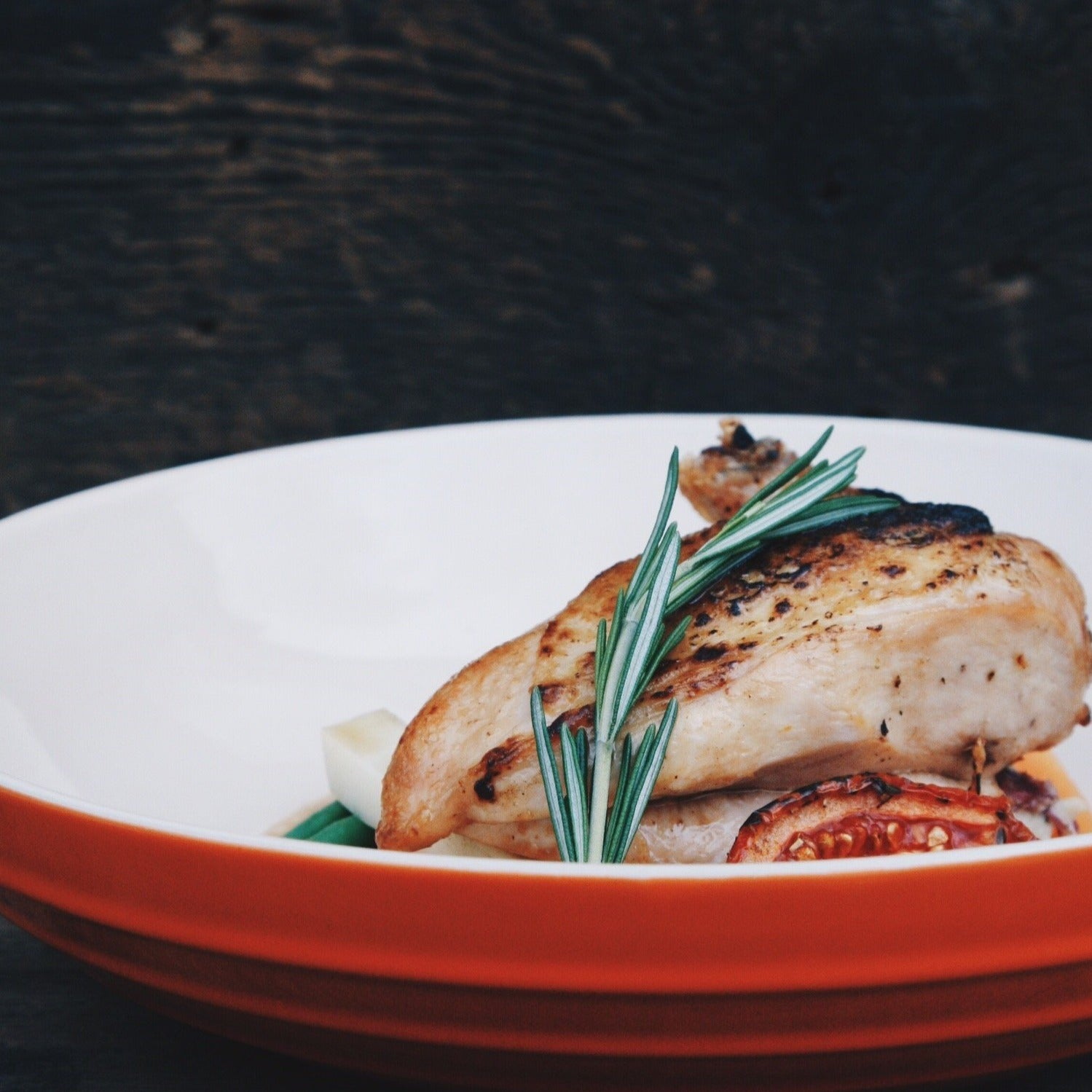 roasted chicken breast supreme- lemon and rosemary (per portion, 1 breast)