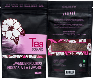 Tea squared 'Lavender Rooibos' loose leaf tea