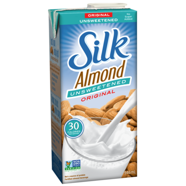 Silk unsweetened original almond milk (1 litre)