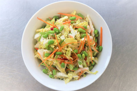asian slaw salad (individual, optional add ons)