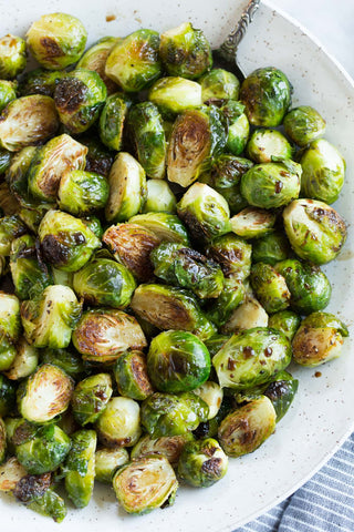 roasted brussels sprouts with sea salt & evoo (2 size options)