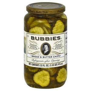 Bubbies bread and butter pickles (jar)