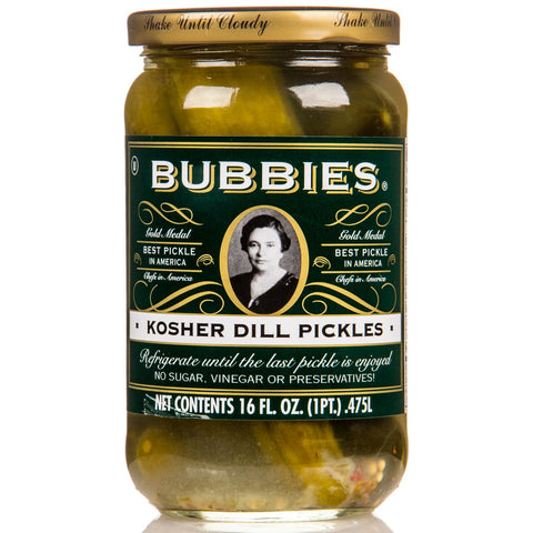 Bubbies kosher dill pickles