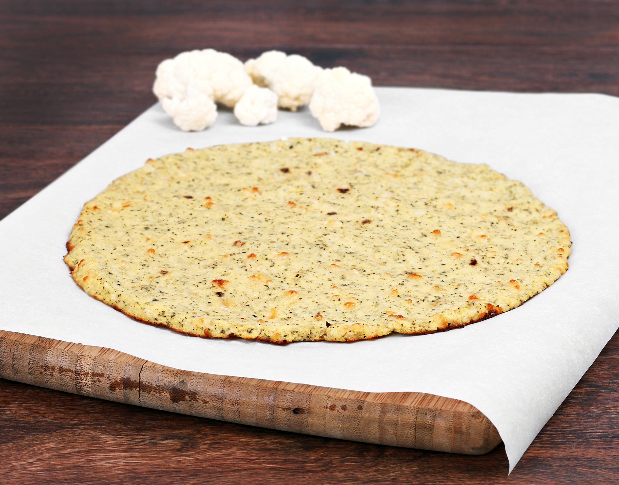 "frozen cauliflower pizza crust, 11"" round, gluten free (each)"