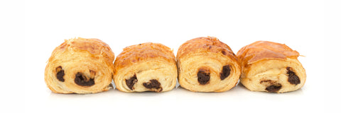 chocolate croissants (pack of 4)