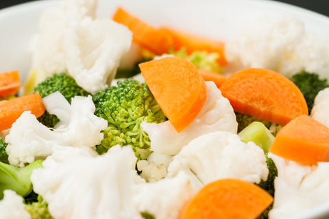 cut cauliflower, broccoli & carrot mix, raw
