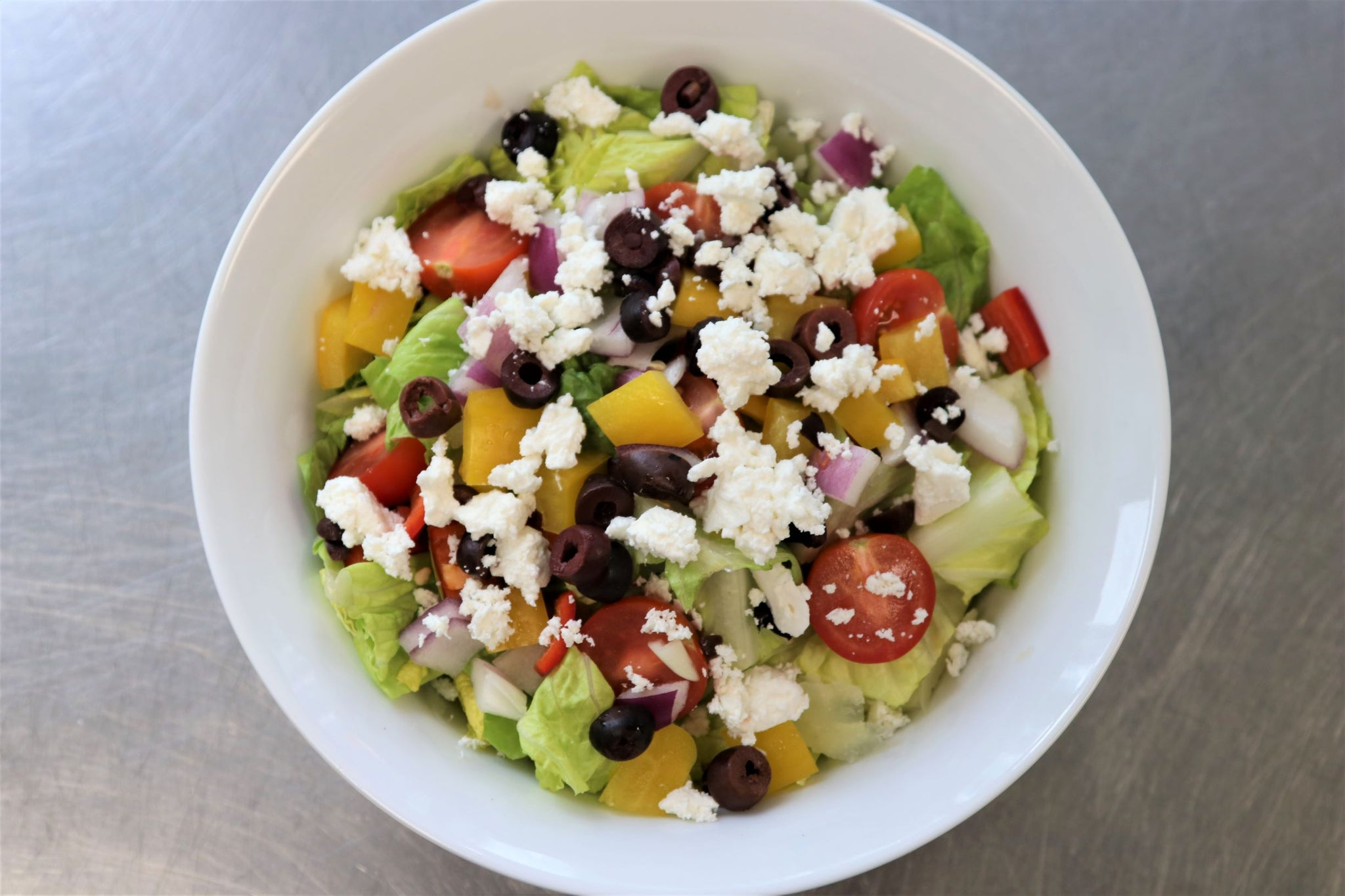greek salad (individual, optional add ons)
