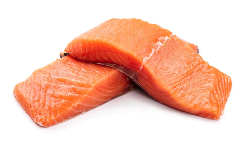 fresh salmon, 2x 6oz fillets (raw, unmarinated, vac packed)