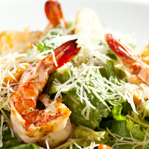 caesar salad with grilled shrimp (3, individual)