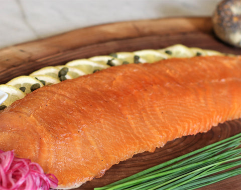 L-eat's own house smoked salmon