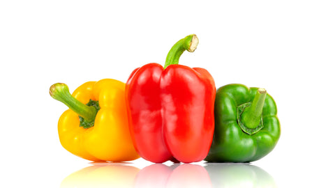 tri-coloured peppers