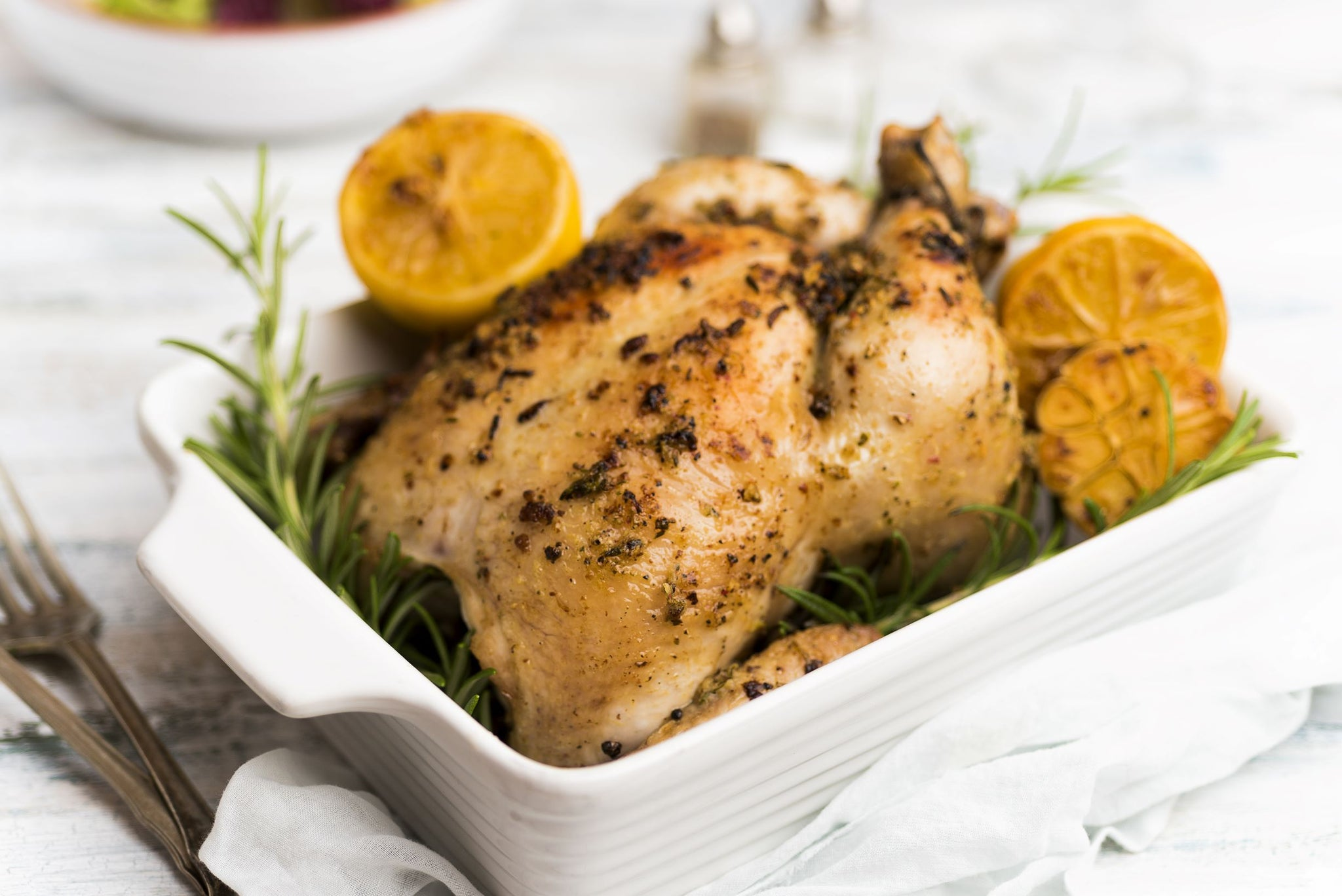 whole roasted chicken - lemon and rosemary (1 whole chicken)