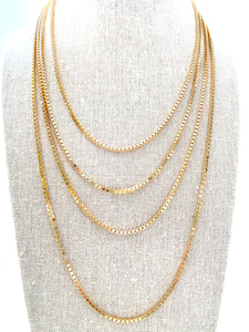 Box Chain Necklace, Gold
