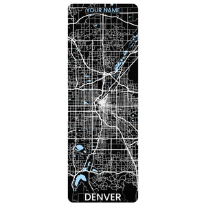 Denver Map Yoga Mat