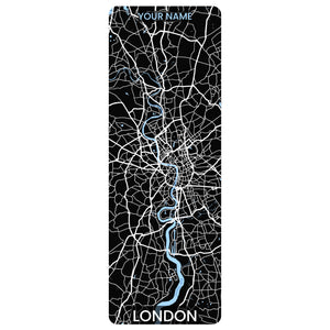 London Map Yoga Mat