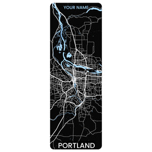 Portland Map Yoga Mat